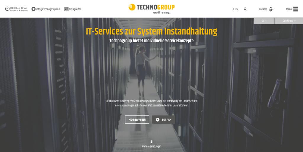 IT-Service Systemwartung Technogroup