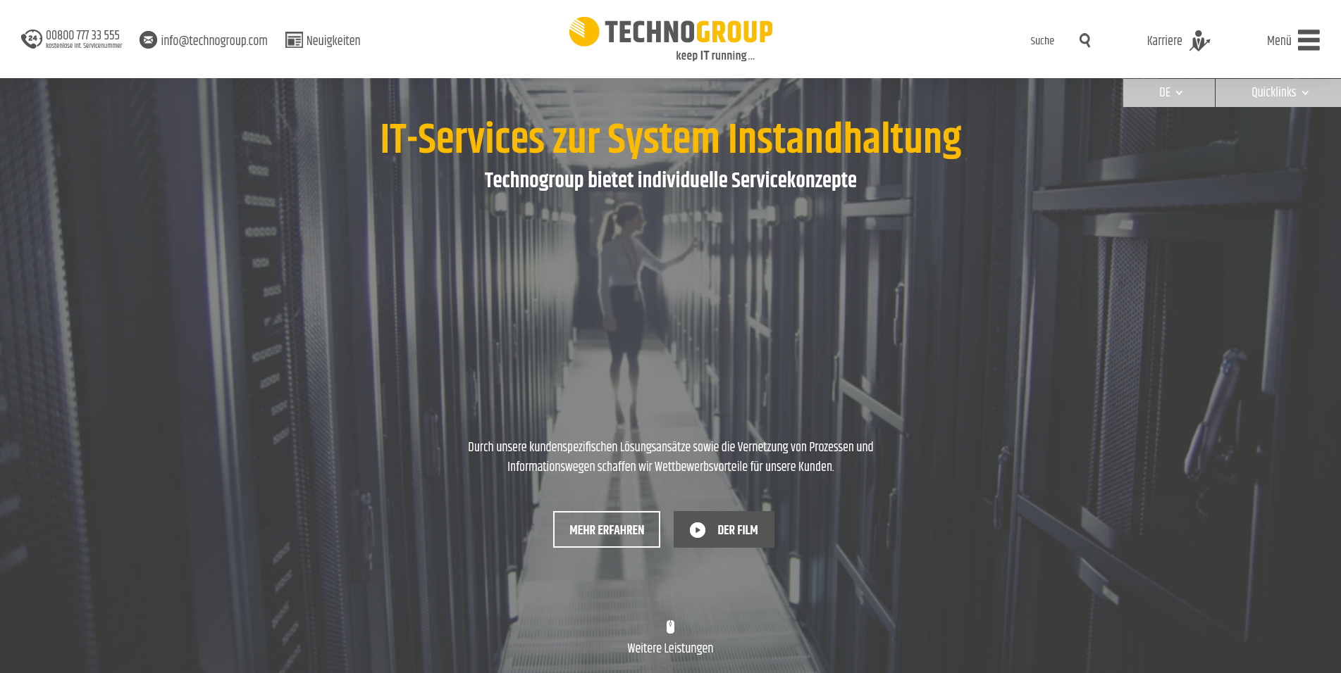 IT-Service Systemwartung Technogroup