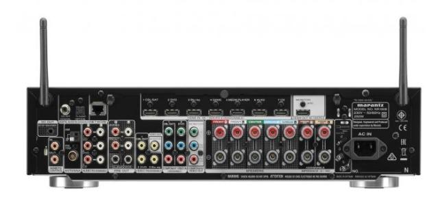 Marantz NR1608 Dolby Atmos AV-Empfänger Anschlüsse