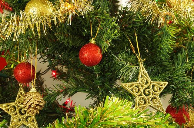 Schlange im Weihnachtsbaum