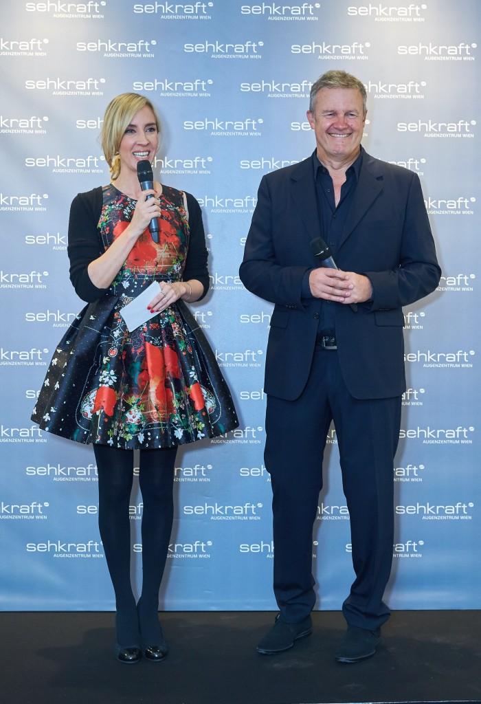 Copyright: Starpix/ Alexander TUMA, 03.12.2015 Wien, Nadja BERNHARD, Matthias MAIS, Eröffnung des Sehkraft Augenzentrum Wien