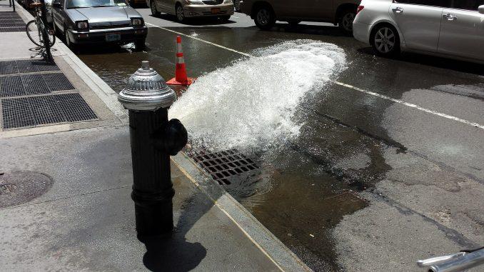 Wasserhydrant in New York City
